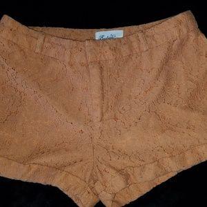 Boutique Forever 21 Lace Hi Waist Shorts Size S